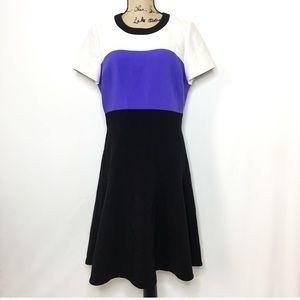 Kate Spade Black White Blue Color Block Dress